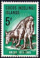 Cocos (Keeling) Islands 1965 SG #7 5d Used Gallipoli Landing - Cocos (Keeling) Islands