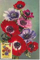 Jersey Carte Maximum 1974 Fleurs Anémones 90 - Jersey