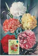 Jersey Carte Maximum 1974 Fleurs Oeillets 91 - Jersey