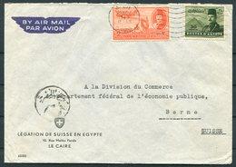 1949 Egypt Airmail Cover, Swiss Legation, Cairo - Bern Switzerland. - Iraq