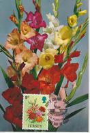 Jersey Carte Maximum 1974 Fleurs Glaieuls 91 - Jersey