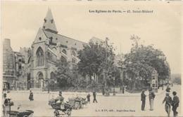 D75 - PARIS - LES EGLISES DE PARIS - SAINT MEDARD - Belle Animation : Plusieurs Personnes - Brouettes - Eglises