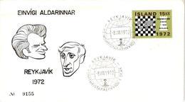 Chess Schach Echecs Ajedrez -Iceland. Reykjavic 1972 - World Championship Match_Spassky Vs Fischer - FDC CKM 361ab - Echecs