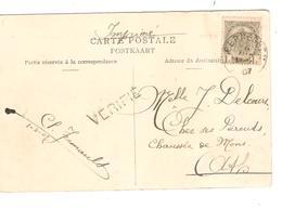 SJ29/ TP 53 Armories S/CP Ostende Chalet Royal C.Eernegem 8/4/1907 + Griffe VERIFIE V.Ath - 1893-1907 Coat Of Arms