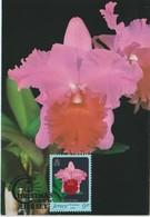 Jersey Carte Maximum 1984 Orchidées 334 - Jersey