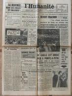 Journal L'Humanité (21 Sept 1964) Aff Golfe Du Tonkin - Rentrée Scolaire - De Gaulle/Pointe à Pitre -Mort S 0'Casey - Kranten