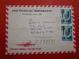 Peru Enveloppe Circulant Avec Beaucoup De Timbres - Pérou