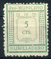 ESPAÑA. GUERRA CIVIL. HUMILLADERO. EDIFIL Nº5. TIPO I - Emisiones Nacionalistas