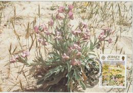 Jersey Carte Maximum 1986 Europa Fleurs Sauvages 373 - Jersey