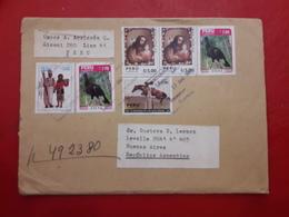 Peru Enveloppe Circulant Avec Beaucoup De Timbres - Perú