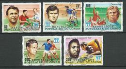CONGO 1978 . Série N°s 486 à 490 . Oblitérés . - Congo - Brazzaville