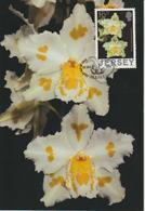 Jersey Carte Maximum 1988 Orchidées 420 - Jersey