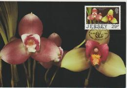 Jersey Carte Maximum 1988 Orchidées 421 - Jersey