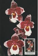 Jersey Carte Maximum 1988 Orchidées 422 - Jersey