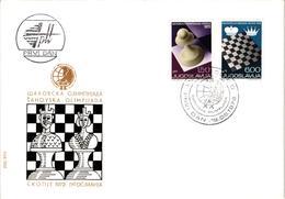 Chess Schach Echecs Ajedrez -Yugoslavia. Belgrade 1972 - 20th Chess Olympiad - FDC CKM 369ab - Echecs