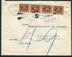 1935 Egypt Societe D'Avances Commerciales, Cairo Cover - Osnabruck Germany.Jusqu'a Par Avion, Airmail. Postage Due, Taxe - Egypt