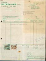 ERPENT - Facture Ets DELCHEVALERIE (1966) - Belgique