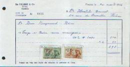 FLEURUS – Note De Commission Ets FALISSE & Cie (1966) - Belgique
