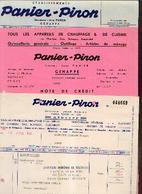 GENAPPE – Ets PANIER – PIRON – Lot De 3 Documents Commerciaux Différents (1966) - Belgique