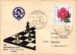 Chess Schach Echecs Ajedrez -East Germany. Rüdersdorf 1972 - 20th Anniversary Of Rüdersdorf Chess Club - Cover CKM 370 - Echecs