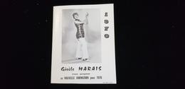 Calendrier 1970 PUB Dépliant Publicitaire Gisèle MARAIS Chanteuse Orchestre Lionel LESUIRE LA ROCHE CLERMAULT 37 CHINON - Calendriers