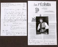 Musica Lirica - Lotto 3 Autografi Del Tenore Ivan Del Manto - Anni '80 - Autografi