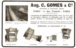 """PUB  CERFS-VOLANTS  """" AUG.  GOMES & Cie """"    1912 ( 1 ) - Autres Collections"""