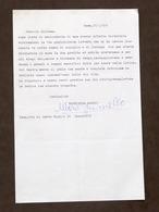 Musica Lirica - Lettera Con Autografo Del Baritono Mario Borriello - 1980 - Autografi