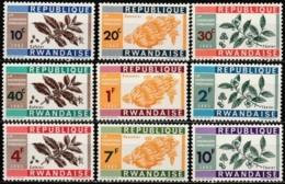 Rwanda 1963, Fruits, Coffee, Tea (MNH, **) - Rwanda