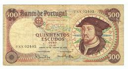 PORTUGAL»500 ESCUDOS»1966»PICK-170A.6»VF CONDITION»CIRCULATED - Portugal