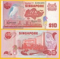 Singapore 10 Dollars P-11b 1976 UNC Banknote - Singapore