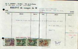 NIVELLES Ets E. GONDRY – Relevé De Compte (1966) - Belgique
