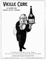 """PUB LIQUEUR  """" VIEILLE CURE """"   1913 ( 1 ) - Autres Collections"""