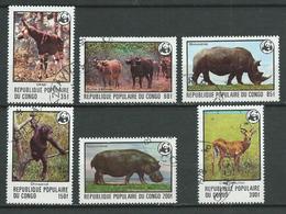 CONGO 1978 . Série N°s 499 à 504 . Oblitérés . - Congo - Brazzaville