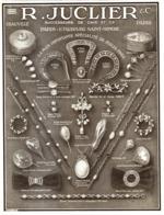 """PUB BIJOUX ( ART DECO ) """" JUCLIER """"   1913 ( 1 ) - Autres"""
