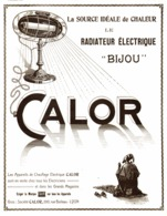 """PUB RADIATEUR ELECTRIQUE """" BIJOU """" De  """" CALOR  """"    1920 ( 1 ) - Technical"""