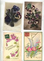 Lot 4 Carte Fantaisie Fleur - Fleurs