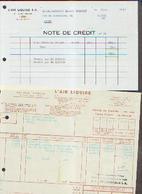 LIEGE « L'AIR LIQUIDE – Lot De 2 Documents (1966) - Belgique