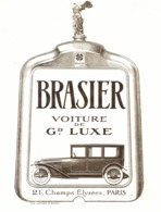 "PUB  VEHICULES  "" BRASIER ""    1920 ( 1 ) - Transports"