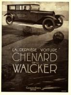 "PUB VEHICULES "" CHENARD & WALKER "" 1920 ( 5 ) - Transports"