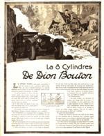 """PUB VEHICULES  """" LA 8  CYLINDRES """" """" DE DION BOUTON  """" 1920 ( 5 ) - Transports"""
