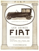 "PUB VEHICULES  "" FIAT "" 1920 ( 1 ) - Transports"