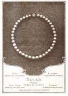 """PUB BIJOUX  COLLIER De PERLES  """" TECLA """"   1911 ( 2 ) - Autres"""