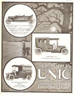 "PUB  VEHICULES  "" UNIC ""    1911 ( 10 ) - Transports"