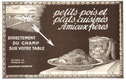 """PUB PETITS POIS Et PLATS CUISINéS   """" AMIEUX FRERES  """"    1911  ( 3 ) - Boîtes"""