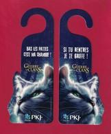 Marque Page Découpé, Accroche-porte PKJ.  Chats.   Bookmark - Marque-Pages