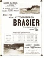 "PUB VEHICULES "" BRASIER ""   1911 ( 2 ) - Transports"
