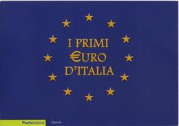 I Primi Euro D'Italia - Anno 2002 - Folder Con Moneta Da 1 Euro Sigillata - 1946-.. République