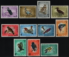 Jemen-Arabische Republik 1965 - Mi-Nr. 409-419 A ** - MNH - Vögel / Birds - Yémen