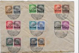Luxembourg Série 1/16 Oblitéré Sur Fragment - 1940-1944 German Occupation